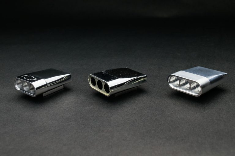(Left) Polished (Center) Original (Right) Machined